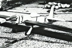 první motorový model, motor detonační 2,5ccm, upoutanec